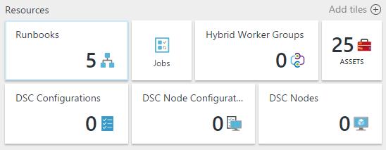Elementos en Azure Automation