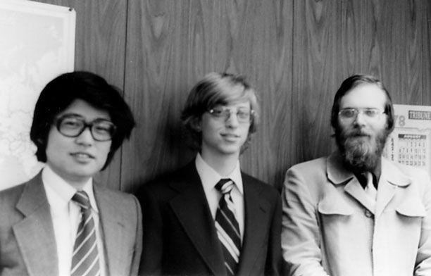 Kazuhiko Nishi, Bill Gates and Paul Allen